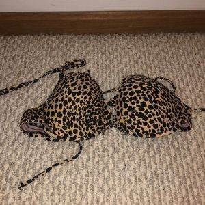 Victoria secret leopard print bikini top